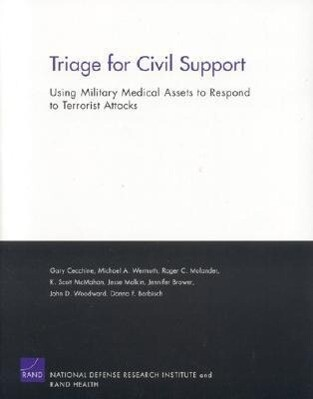 Triage for Civil Support: Using Military Medical Assets to R als Taschenbuch