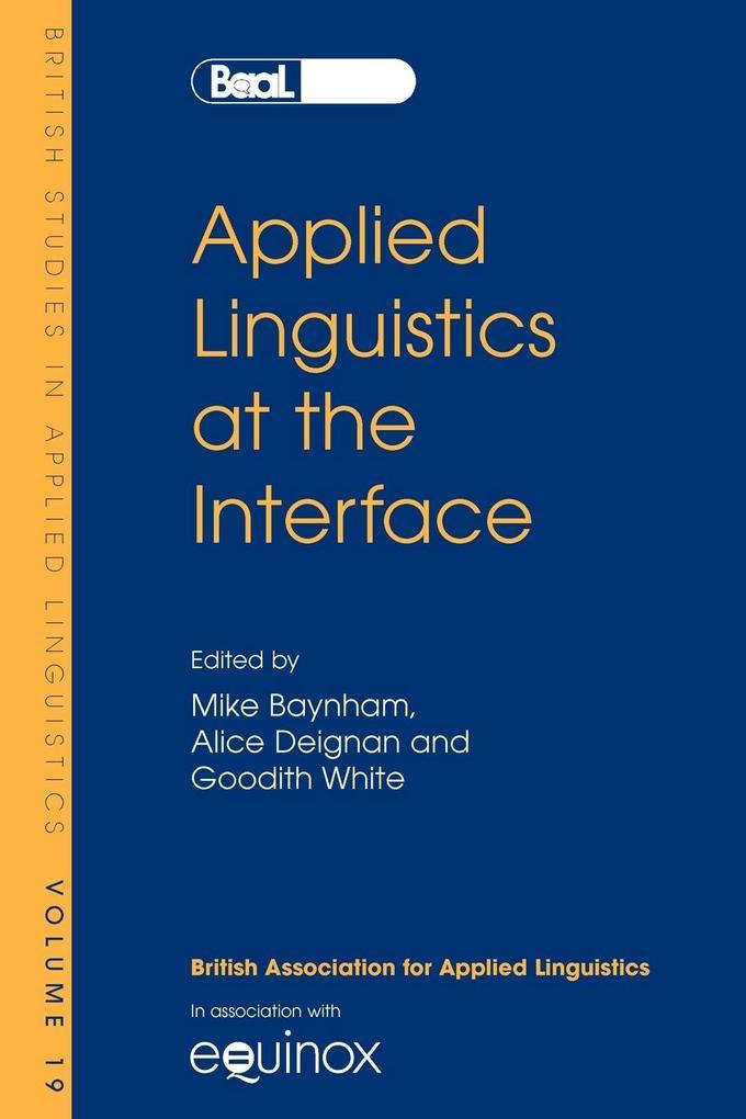 Applied Linguistics at the Interface als Taschenbuch