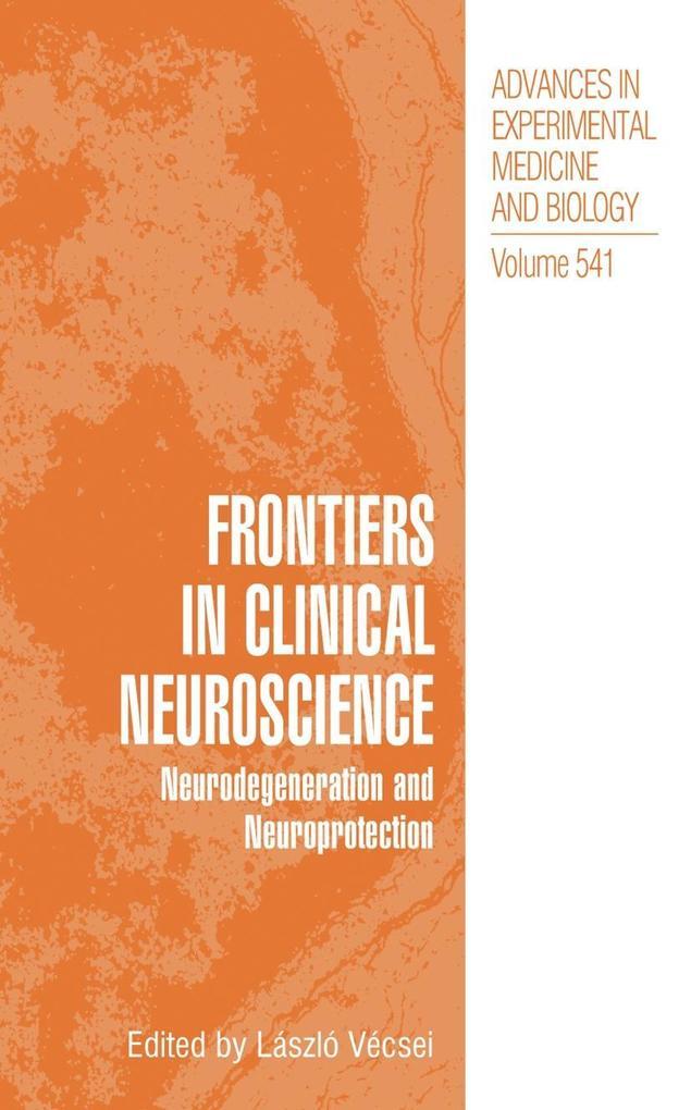 Frontiers in Clinical Neuroscience als Buch (gebunden)