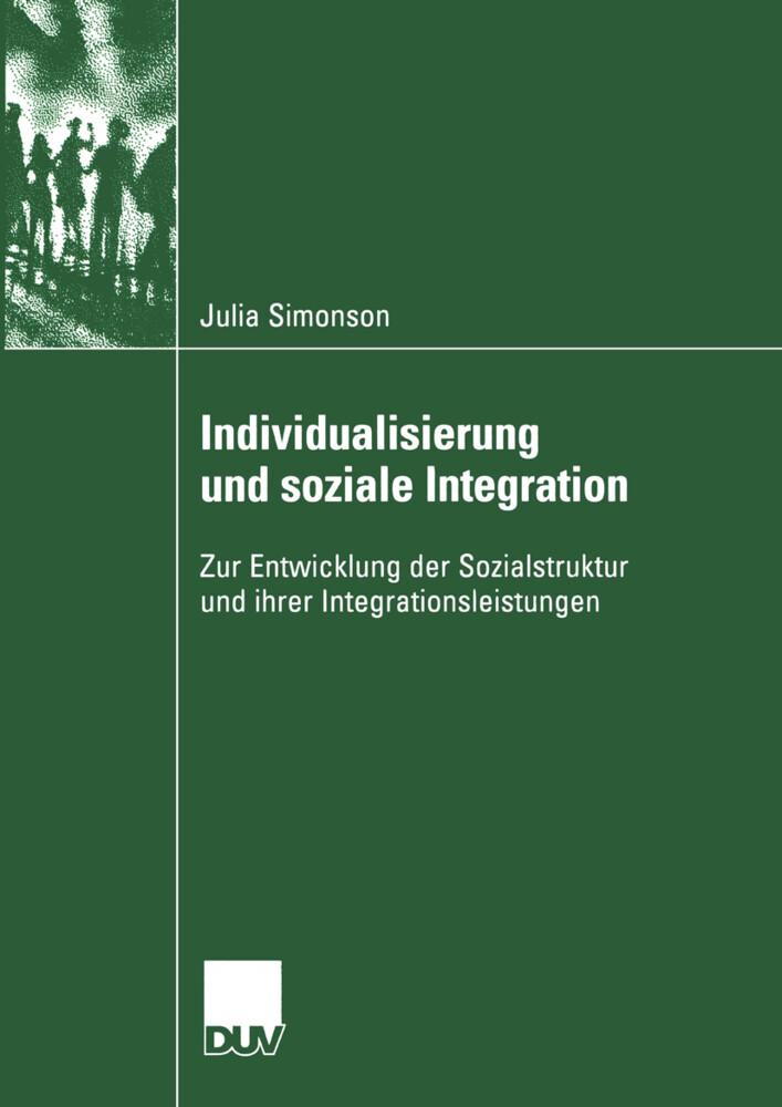 Individualisierung und soziale Integration als Buch (kartoniert)