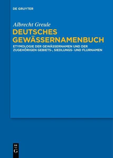 Deutsches Gewässernamenbuch als Buch (kartoniert)