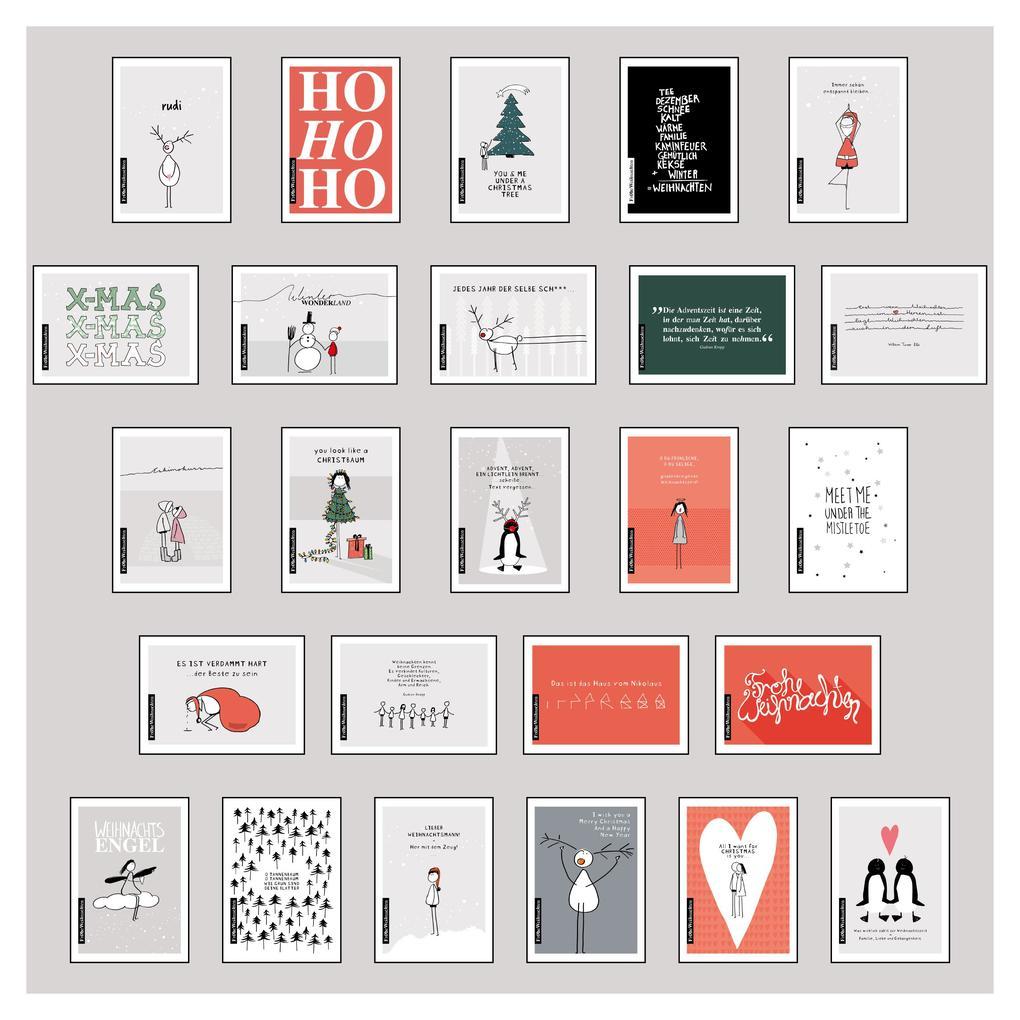 25 handgemachte Weihnachtskarten Teil 1 als Sonstiger Artikel