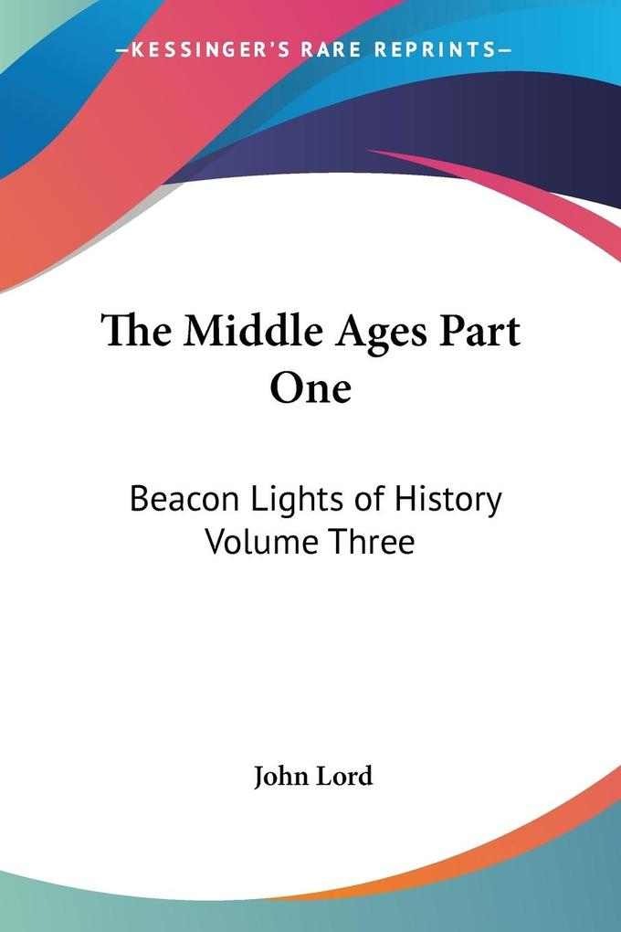 The Middle Ages Part One als Taschenbuch