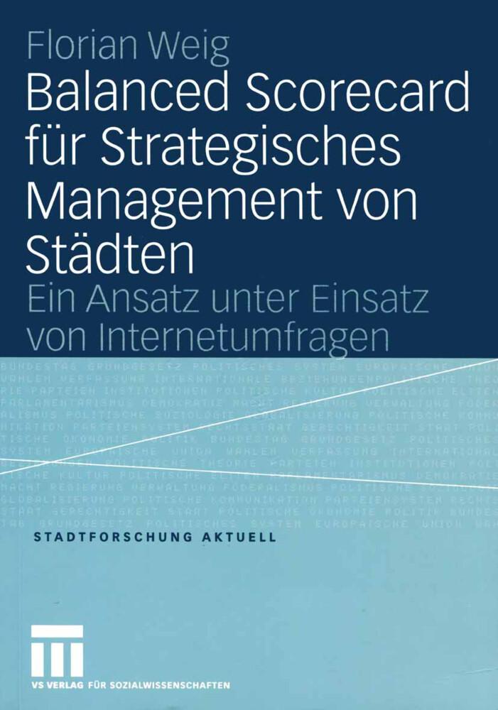 Balanced Scorecard für Strategisches Management von Städten als Buch (kartoniert)