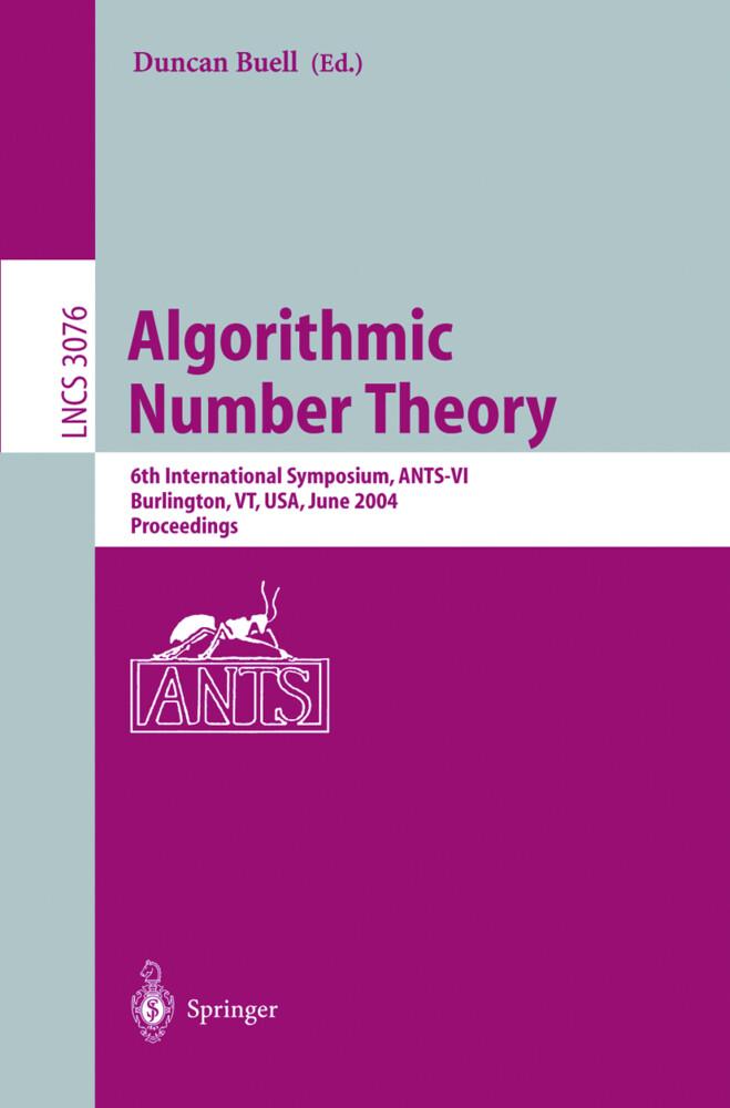Algorithmic Number Theory als Buch (kartoniert)