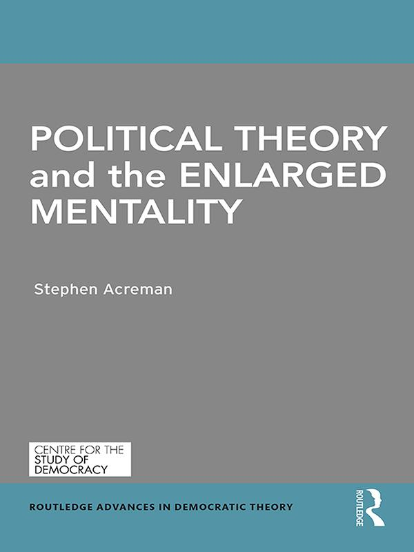 Political Theory and the Enlarged Mentality als eBook epub