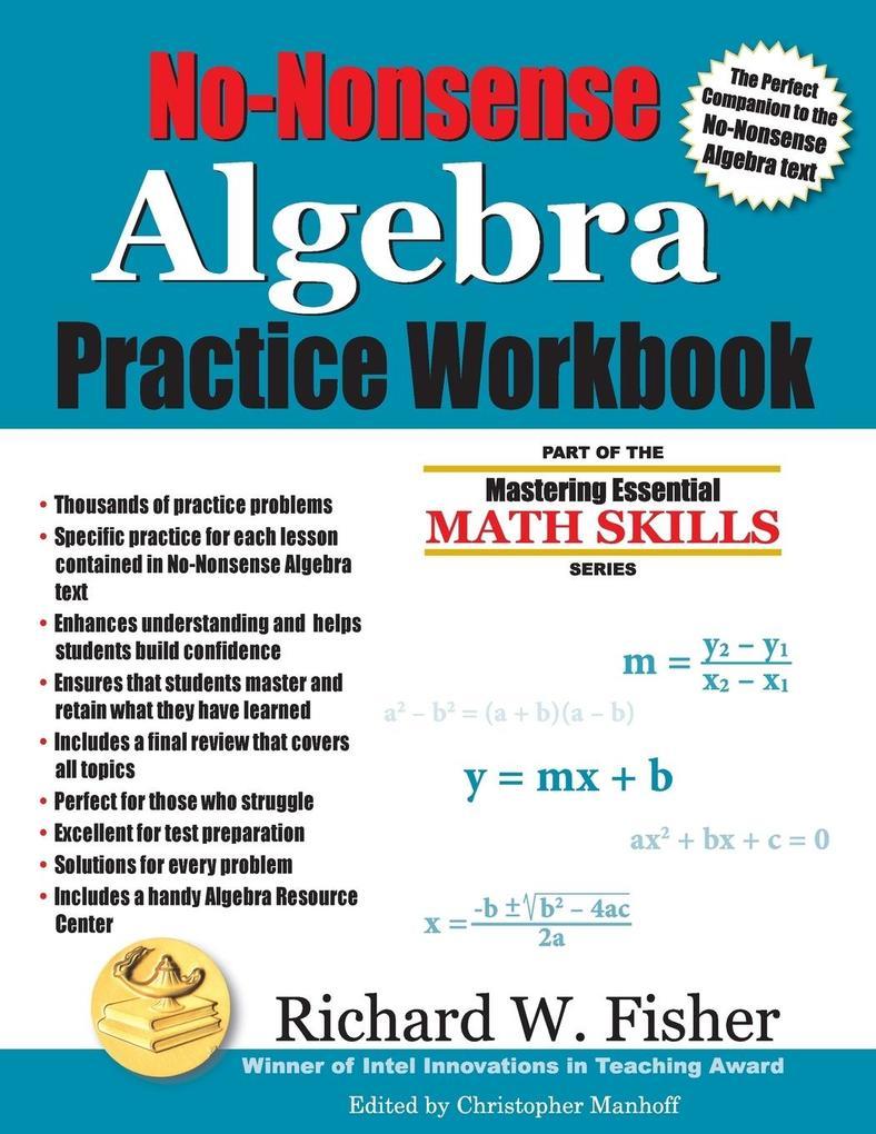 No-Nonsense Algebra Practice Workbook als Taschenbuch