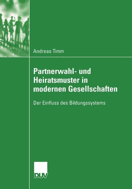 Partnerwahl- und Heiratsmuster in modernen Gesellschaften als Buch (kartoniert)
