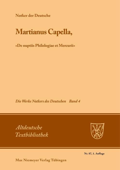 Martianus Capella, »De nuptiis Philologiae et Mercurii« als eBook
