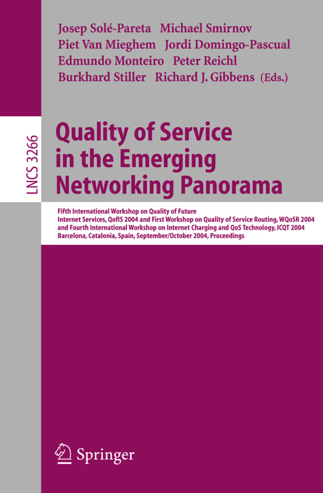 Quality of Service in the Emerging Networking Panorama als Buch (kartoniert)