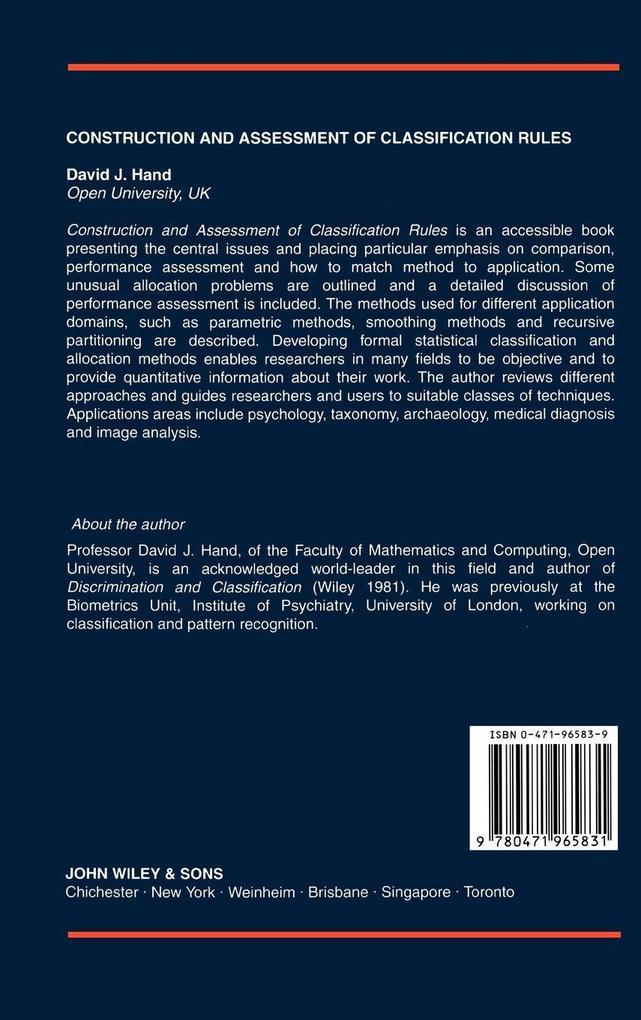 Construction Assessment Classification als Buch (gebunden)