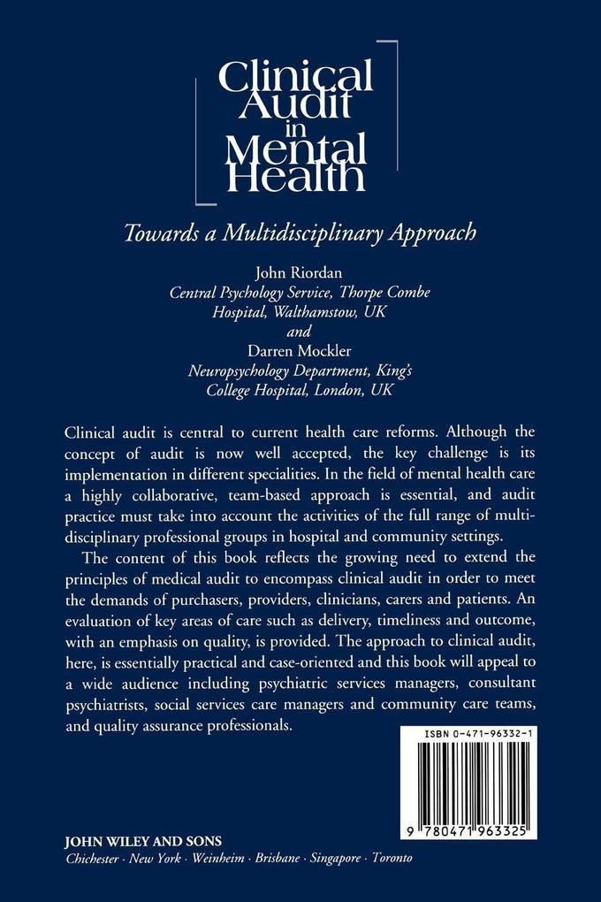 Clinical Audit in Mental Health als Buch (kartoniert)