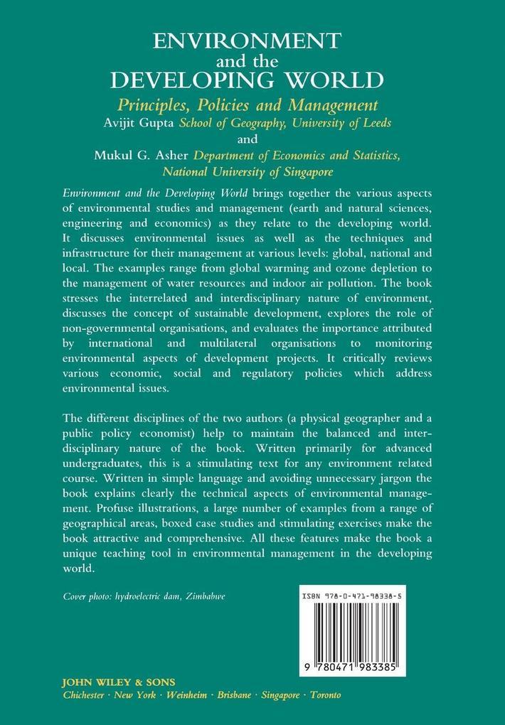 Environment  the Developing World als Buch (kartoniert)