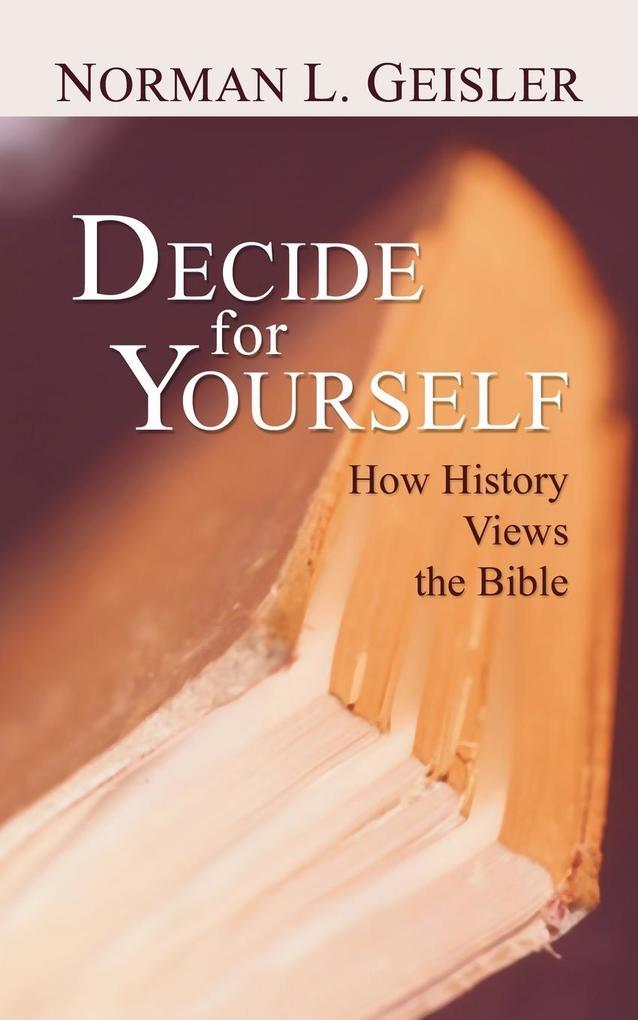 Decide for Yourself als Taschenbuch