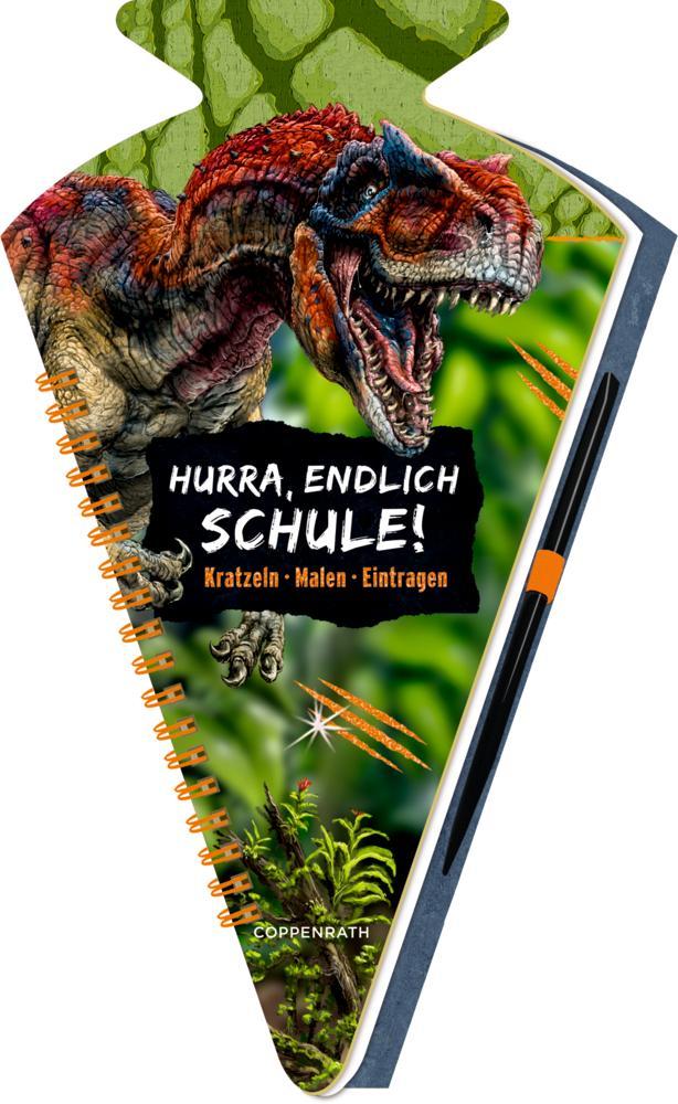 Schultüten-Kratzelbuch - T-REX World - Hurra, endlich Schule! als Buch (kartoniert)