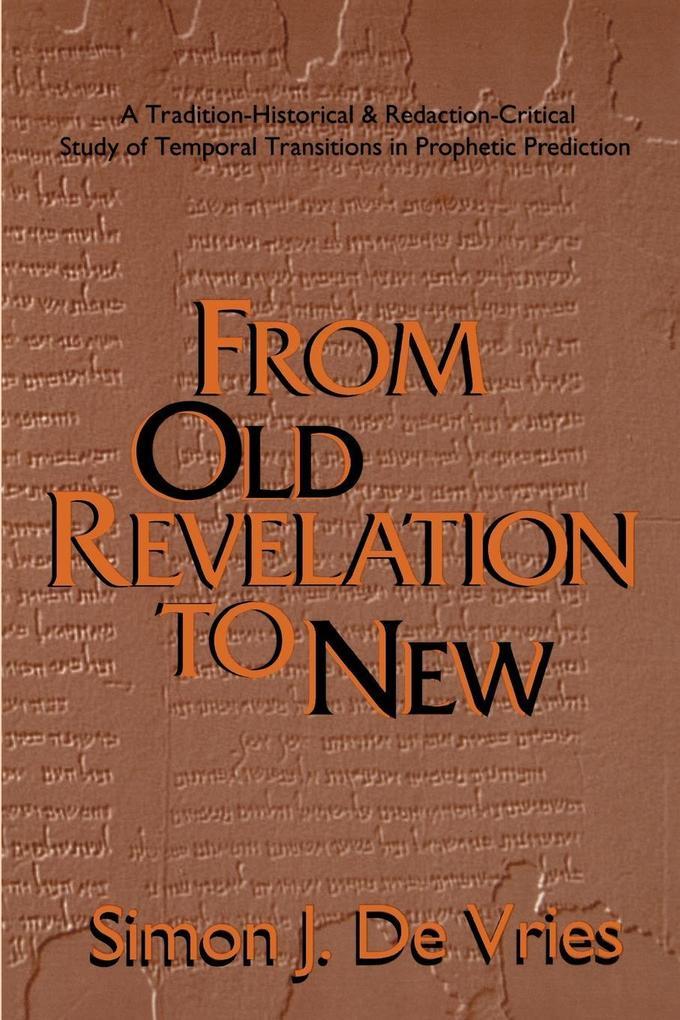 From Old Revelation to New als Taschenbuch