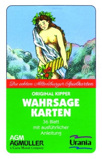 Kipper Wahrsagekarten als Blätter und Karten