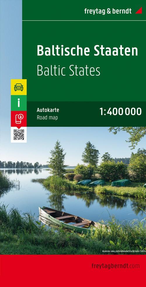 Baltische Staaten / Baltic States 1 : 400 000 Autokarte als Blätter und Karten