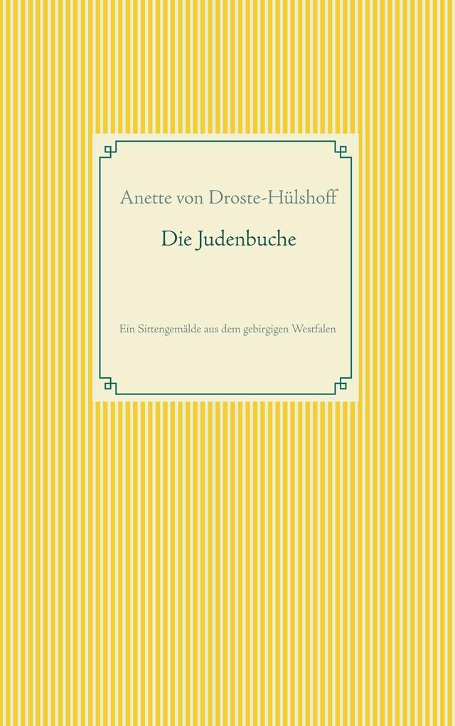 Die Judenbuche als Buch (kartoniert)