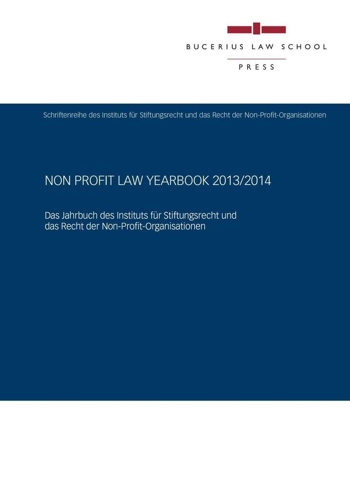 Non Profit Law Yearbook 2013/2014 als eBook epub