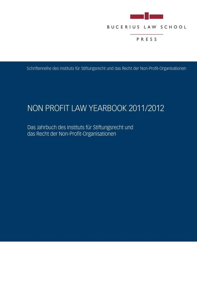 Non Profit Law Yearbook 2011/2012 als eBook epub