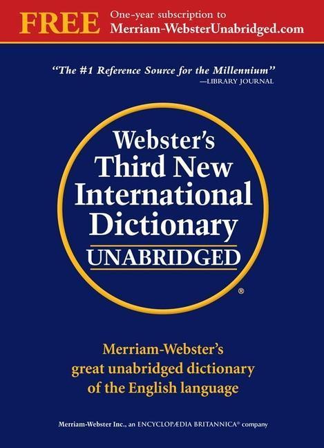 Webster's Third New International Dictionary als Buch (gebunden)