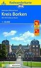 Radwanderkarte BVA Radregion Münsterland Kreis Borken mit 100 Schlösser Route 1:50.000