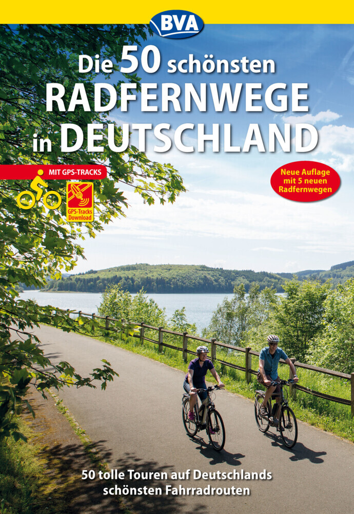 Die 50 schönsten Radfernwege in Deutschland als Buch (kartoniert)