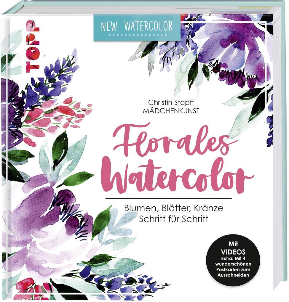 Florales Watercolor als Buch (gebunden)