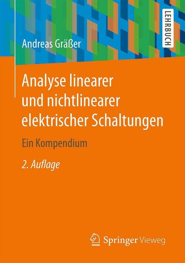 Analyse linearer und nichtlinearer elektrischer Schaltungen als eBook pdf