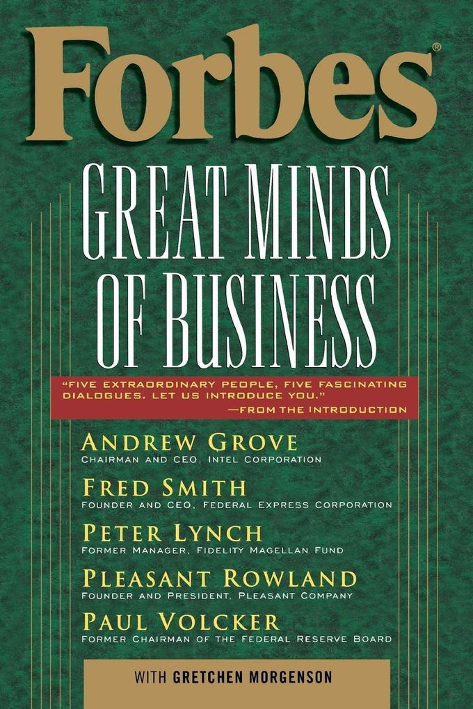 Forbes Great Minds of Business als Buch (kartoniert)