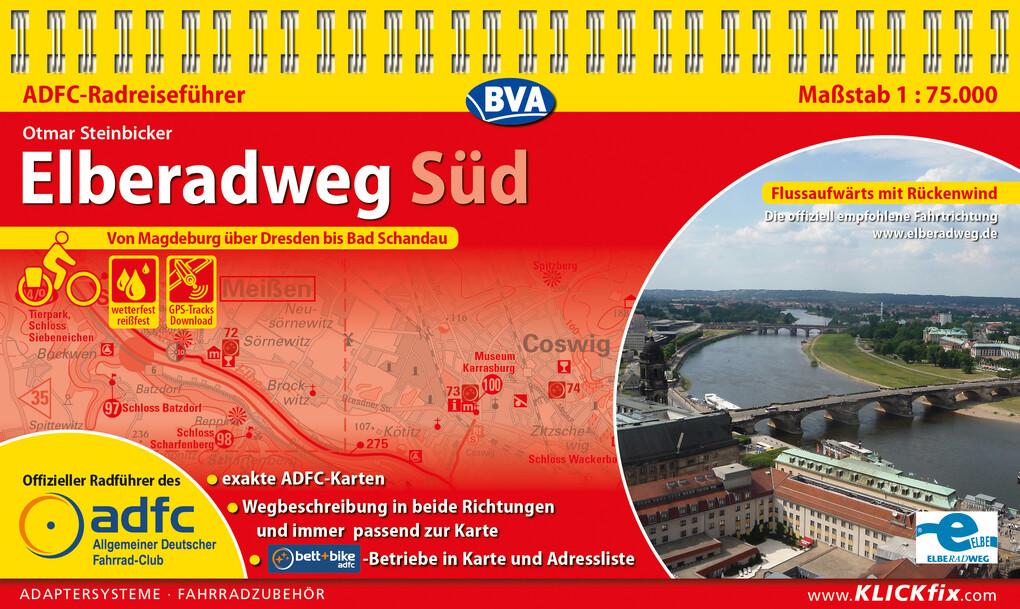 ADFC-Radreiseführer Elberadweg Süd 1:75.000 praktische Spiralbindung, reiß- und wetterfest, GPS-Tracks Download als eBook epub