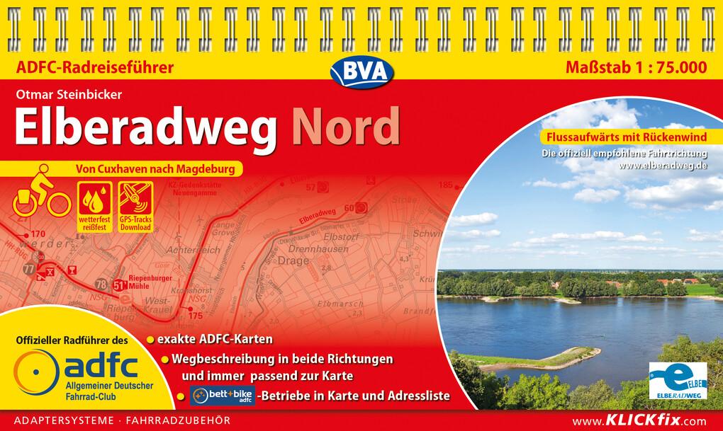 ADFC-Radreiseführer Elberadweg Nord 1:75.000 praktische Spiralbindung, reiß- und wetterfest, GPS-Tracks Download als eBook epub