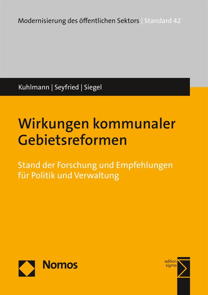 Wirkungen kommunaler Gebietsreformen als eBook pdf