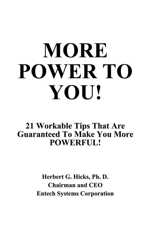 More Power to You! als Taschenbuch