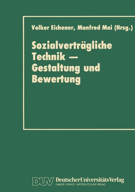 Sozialverträgliche Technik - Gestaltung und Bewertung als eBook pdf