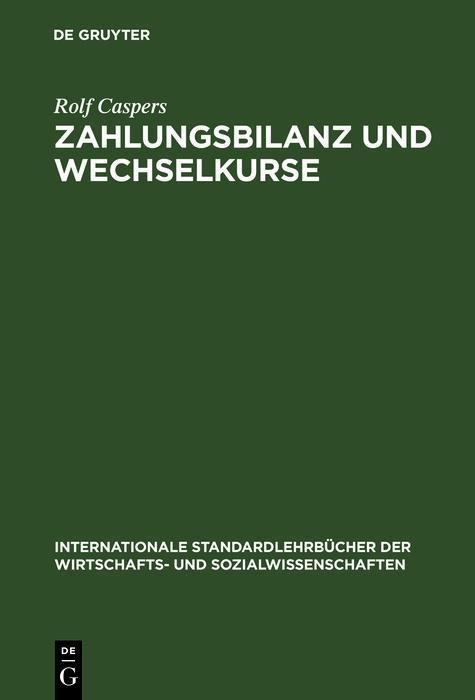 Zahlungsbilanz und Wechselkurse als eBook pdf