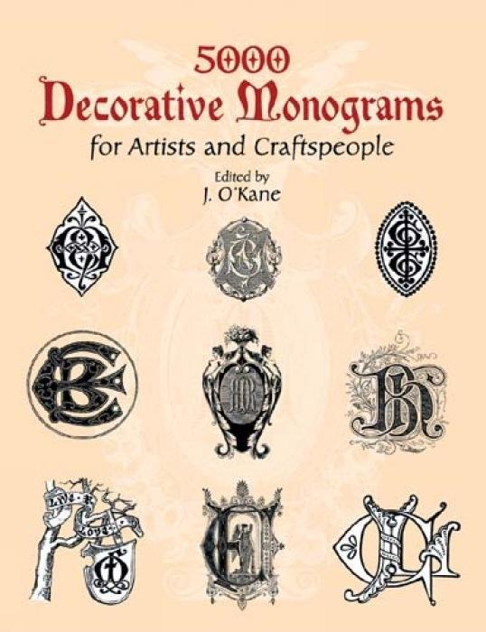 5000 Decorative Monograms for Artists and Craftspeople als Taschenbuch