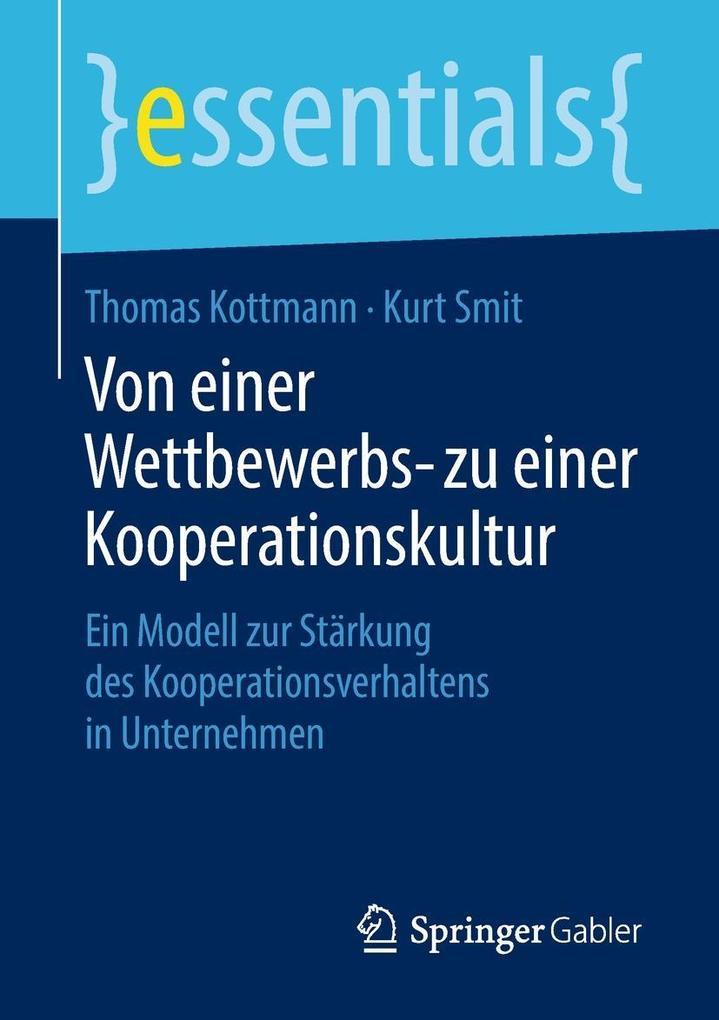 Von einer Wettbewerbs- zu einer Kooperationskultur als eBook pdf