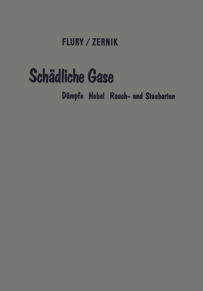 Schädliche Gase als eBook pdf