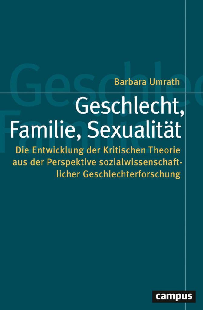 Geschlecht, Familie, Sexualität als eBook epub