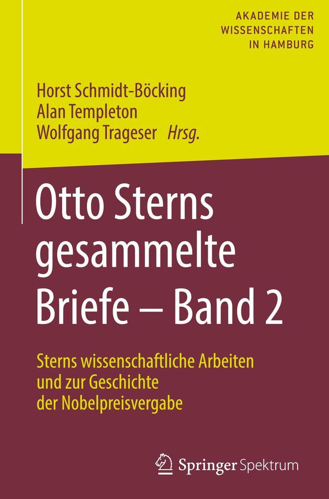 Otto Sterns gesammelte Briefe - Band 2 als Buch (gebunden)