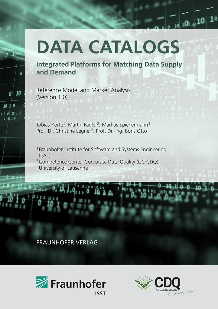Data Catalogs - Integrated Platforms for Matching Data Supply and Demand. als eBook pdf
