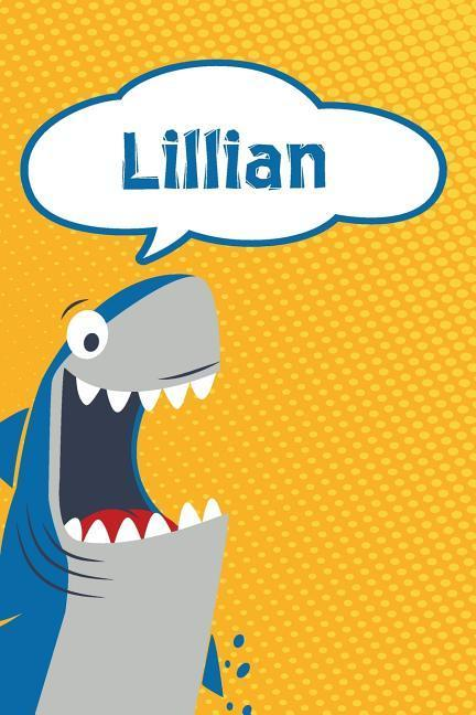 Lillian: Personalized Shark Blood Sugar Diet Diary Journal Log Featuring 120 Pages 6x9 als Buch (kartoniert)