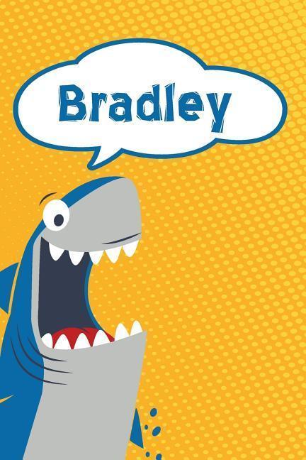 Bradley: Personalized Shark Blood Sugar Diet Diary Journal Log Featuring 120 Pages 6x9 als Taschenbuch
