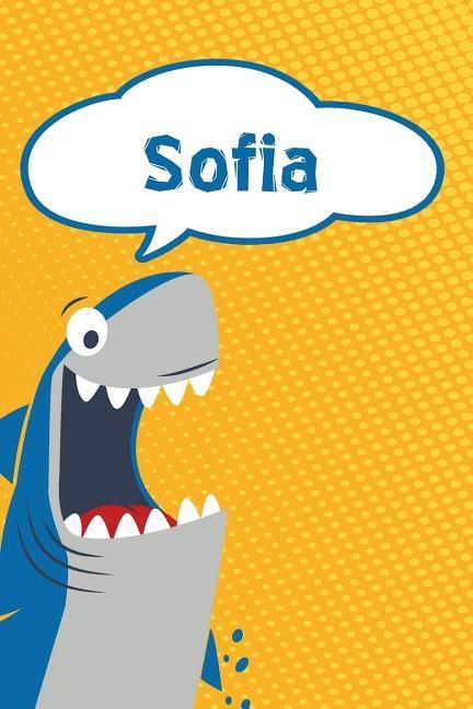Sofia: Personalized Shark Draw and Write Diary Journal Notebook Featuring 120 Pages 6x9 als Buch (kartoniert)