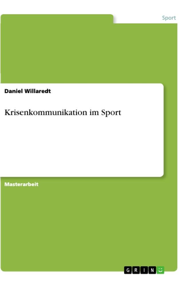Krisenkommunikation im Sport als Buch (kartoniert)