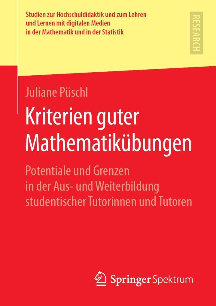 Kriterien guter Mathematikübungen als eBook pdf