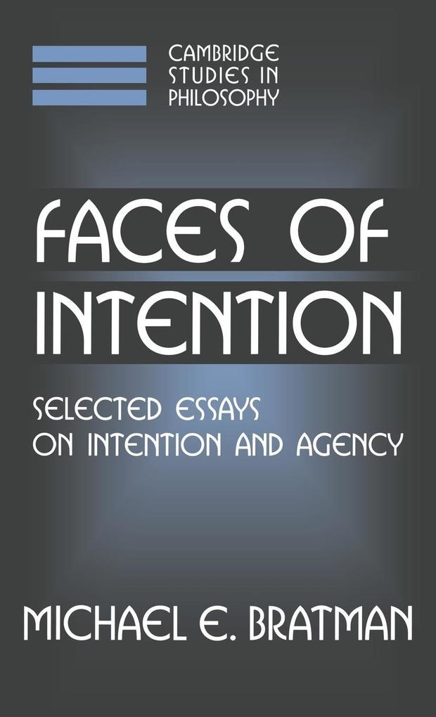 Faces of Intention als Buch (gebunden)