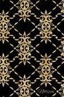 Notizen: Goldfarbenes Damask Ornament Tagebuch / Journal Mit 120 Leeren Linierten Seiten Für Deine Notizen, Gedanken, Aufgaben,